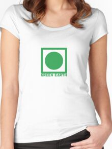 Green Earth Women's Fitted Scoop T-Shirt