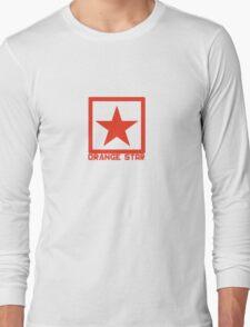 Orange Star Long Sleeve T-Shirt