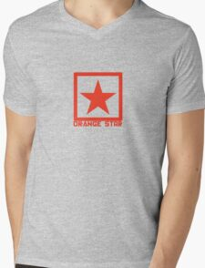 Orange Star Mens V-Neck T-Shirt