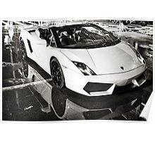 Lamborghini Gallardo pure white Poster