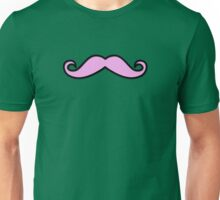 Curly Moustache, Polka Dots - Black Pink Green Unisex T-Shirt