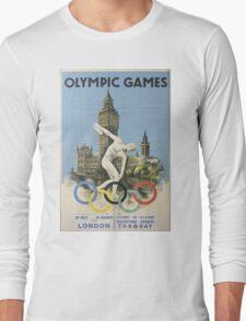 Vintage poster - London Olympics Long Sleeve T-Shirt