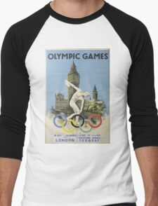 Vintage poster - London Olympics Men's Baseball ¾ T-Shirt