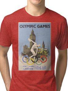 Vintage poster - London Olympics Tri-blend T-Shirt