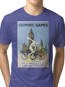 Vintage poster - London Olympics Tri-blend T-Shirt