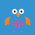 Blue & Orange Owl by Adamzworld
