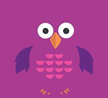 Purple & Purple Owl by Adamzworld