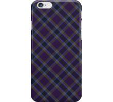 Purple/Gold Tartan iPhone Case/Skin