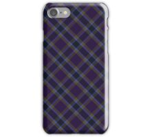 Purple/Gold Tartan iPhone Case/Skin