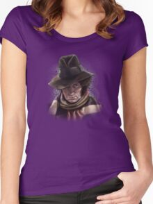 Fourth Doctor - Tom Baker Women's Fitted Scoop T-Shirt