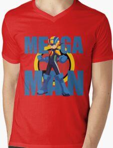 Mega Emblem Mens V-Neck T-Shirt