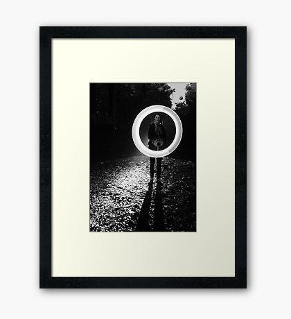 Light Circle Framed Print