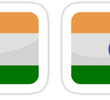 Flags of the World - India x6 Sticker