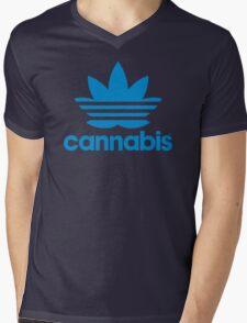 Cannabis Adidas Spoof Mens V-Neck T-Shirt