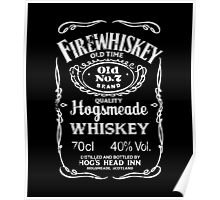 Hogsmeade's Old No.7 Brand Firewhiskey Poster