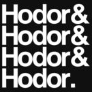 Hodor Helvetica (White) by digital-phx