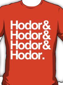 Hodor Helvetica (White) T-Shirt