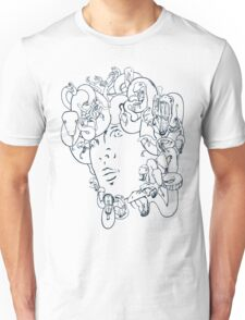 Medusa // The year of the Snake (Gorgoneion, Blue Drawing) Unisex T-Shirt