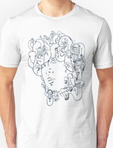 Medusa // The year of the Snake (Gorgoneion, Blue Drawing) T-Shirt