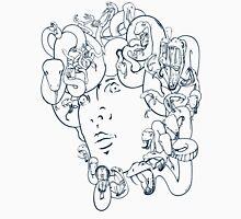 Medusa // The year of the Snake (Gorgoneion, Blue Drawing) Unisex T-Shirt