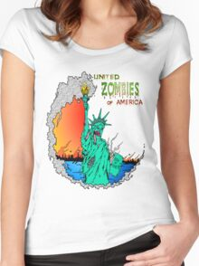 Zombies of America Women's Fitted Scoop T-Shirt