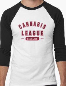 Cannabis League  Men's Baseball ¾ T-Shirt