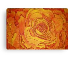 Sunset Rose Canvas Print