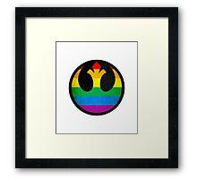 Rainbow Rebellion Framed Print