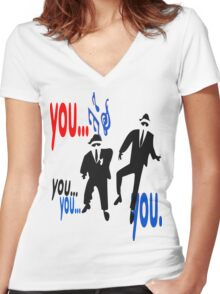 Dancing brothers Women's Fitted V-Neck T-Shirt