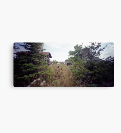 Pinhole Study: Farm of a Bygone Era Canvas Print