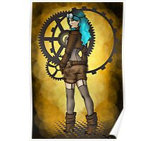 Steampunk Girl Pinup Poster