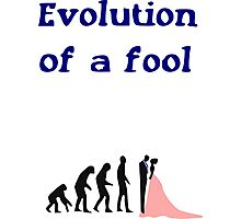 Evolution of a Fool Photographic Print