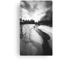Pinhole Study: Winter in Waterloo No. 1 Canvas Print