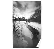 Pinhole Study: Winter in Waterloo No. 1 Poster