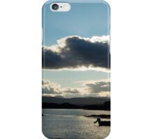 boats in a calm quiet bay at sunset iPhone Case/Skin