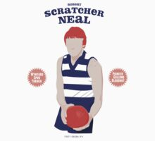 Robert Scratcher Neal - Geelong (on white) by Chris Rees