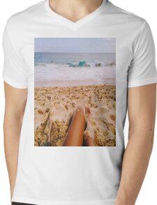 Beach Mens V-Neck T-Shirt