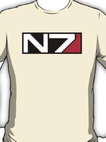 8-bit N7 Logo (Black Background) T-Shirt