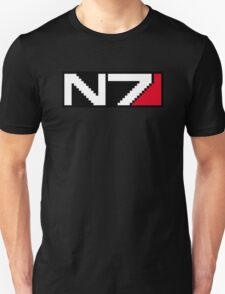 8-bit N7 Logo (Black Background) Unisex T-Shirt