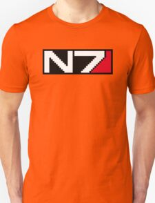 8-bit N7 Logo (Black Background) Unisex T-Shirt