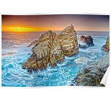Pacific Ocean Oregon Coast HDR Poster