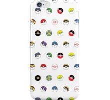 Cute Pokeball Pattern iPhone Case/Skin