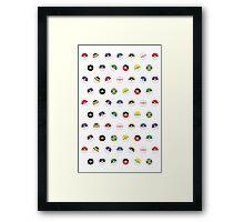 Cute Pokeball Pattern Framed Print