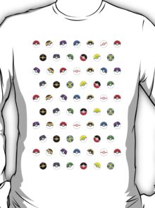 Cute Pokeball Pattern T-Shirt