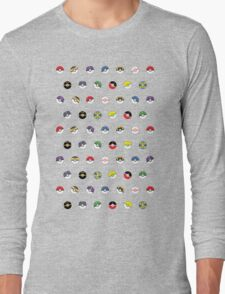 Cute Pokeball Pattern Long Sleeve T-Shirt