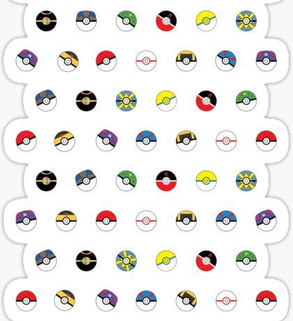 Cute Pokeball Pattern Sticker