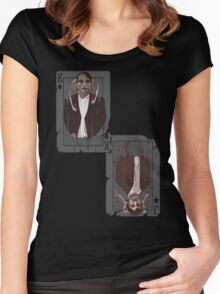 The King and his Joker Women's Fitted Scoop T-Shirt