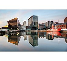 Reflections of Liverpool Docks Photographic Print