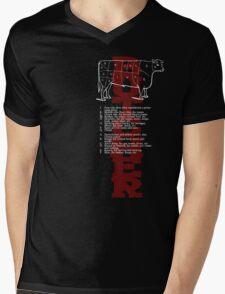 Butcher Cow Mens V-Neck T-Shirt
