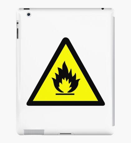 Flammable Warning Sign iPad Case/Skin